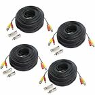 Hykamic 4 Pack 150ft BNC Video Power Cable Security Camera Wire Cord forCCTV DVR