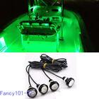 4x Green LED Boat Light Waterproof Outrigger Spreader Transom Underwater Marine