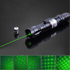 10 Mile 532nm Starry Green Laser Pointer Pen Visible Beam Light Lazer+Star Cap