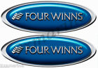 "Four Winns Boat Sticker Set - Classic Blue Oval 10"" Long X 3.5"" Tall"