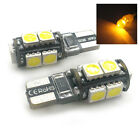 FITS HONDA 2X XENON AMBER 9 SMD LED SIDE LIGHT W5W T10 501 SJSL1017A