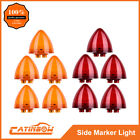 """10PC 2"""" Round Amber+Red Beehive Side Clearance Marker light 9 LED Replacement"""