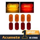 "4 x Amber + 4 x Red Side marker Light  4"" x 2"" 6 LED Clearance For Trailer 12V"