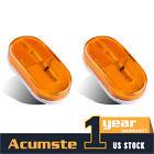 "2 x Amber 4"" x 2"" Side marker Light Camper Trailer RV 6LED Clearance Assembly"