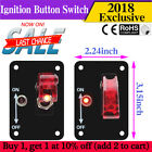 SPST 2Pin Car Auto Boat ON/OFF 12V SPST Rocker Toggle Button Flick Switch Panel