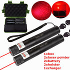 Red 5mW Laser Pointer Lazer Pen Kits Beam Zoom Focus 18650 Battery Boxed+Charger