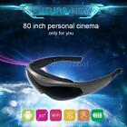 """BT 4.0 Android Quad Core Smart Video Glasses 80"""" Virtual Touch WIFI TF VGA L0Y9"""