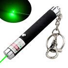 Mini 532nm  Dot or Star Green Laser Pointer Light AAA Battery w/ Key Chain