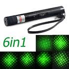 50Miles 6in1 532nm 1mw Green Laser Pointer Lazer Pen Beam Light Laser Pointer