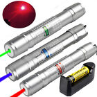 50Miles Green&Blue&Red  Laser Pointer Pen Visible Beam Lazer+18650 Charger USA