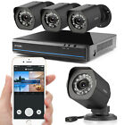 Zmodo 1080p 4CH Network PoE NVR 4 IP IR Outdoor Cameras Security System No HDD