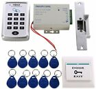 HWMATE Access Control System Kit With Keypad Power Supply Strike Lock Exit For
