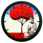 Home Decor Wall Clock Sticker Silver Saint Wall Clock 3D DIY Surface Art