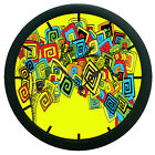 Abstract Wall Clock 3D DIY Surface Art Home Decor Wall Clock Sticker