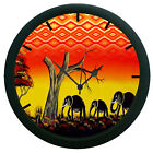 Elephant  Wall Clock 3D DIY Surface Art Home Décor Wall Clock Sticker