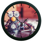 Machine Face 3D Wall Clock Living Room Décor 3D DIY 12 Hour Display