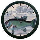 Fish 3D Wall Clock Living Room Décor 3D DIY 12 Hour Display