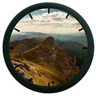 Mountain 3D Wall Clock Living Room Décor 3D DIY 12 Hour Display