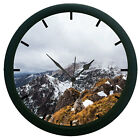 Snow Covered Peaks 3D Wall Clock Surface Art Gifted Home Decorative Watch