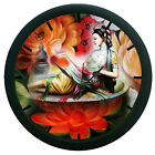 Multi Color Lady Wall Clock Modern Art Round Analog Home Decor 12 Hour Display