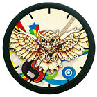 Owl Wall Clock 12 Hour Creative Modern Analog Display