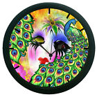Peacock with Face Mask  Wall Clock Home Decor Wall Clock 12 Hour Display