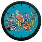 Dandiya Wall Clock Modern Art Round Analog Home Decor 3D DIY 12 Hour Display