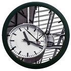 Railway Clock 3D Wall Clock Living Room Décor 3D DIY 12 Hour Display