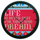 Multi Color Quotes Wall Clock 3D DIY Surface Art Home Decor Wall Clock Sticker