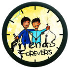 Friend Forever Wall Clock Modern Round Analog Home Decor 3D DIY 12 Hour Display