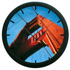 Bridge 3D Wall Clock Plastic Granules And Glass Home Décor 12 Hour Display Watch