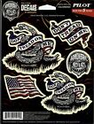 Pilot / Bully Peel & Stick Decals - Bomonster - Don't Tread On Me - Flag GRP-533