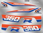 1986 86' honda TRX ATV 350R 8pc RED/BLUE Decals Stickers Fourtrax Graphics Kit