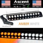 12 LED Emergency Warning Strobe Work Light Bar Flash Dash Car Lamp AMBER WHITE