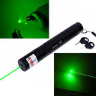 High Power Green Laser Pointer Pen Rechargeable 5mW 532nm Visible Beam 50 Miles