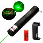 Military 532nm Green Laser Pointer Pen Visible Beam Light 850 +Battery+Charger