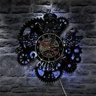Gear Wall Clock Modern Design Vinyl CD Record Clocks LED Wall Watch Home Decor