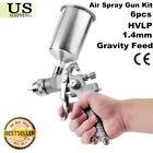 6pcs HVLP Air Spray Gun Kit for Auto Paint Car Primer Detail Basecoat Clearcoatk