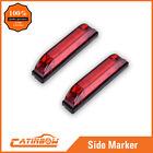 "2PC 4"" Red Waterproof LED Light Bar 6 LEDS Utility strip Lamp Auto Side Light"