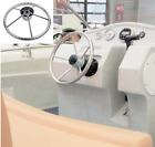 13-1/2 Inch 5-spoke Destroyer Style Stainless Bass Boat Steering Wheel-25 Degree