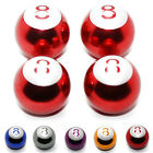 4x Valves Billiard Ball 8 Ball Motorcycle Car Bike Billiard Audi BMW Valves