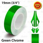 "19mm 3/4"" PinStriping Pin Stripe Tape Car Line Decal Vinyl Sticker GREEN CHROME"