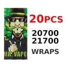 20PCS 20700/21700 Battery Wraps MR.VAPER Heat Shrink Sleeves Tubes Tubing