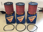 (3) Vintage Packard Studebaker Ford P-34 Oil Filters SP-50057 Great Graphics!