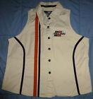 Harley Davidson Racing Performance Motor Clothes Womens Biker Top Vest XL Button