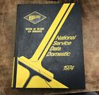 1974 NATIONAL SERVICE DATA AUTO REPAIR Manual