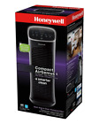 Compact AirGenius 4 Air Levels Tower Air Purifier Cleaner Odor Reducer - Black