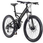 "26"" Mongoose Blackcomb Men's Mountain Bike, Black Fast"