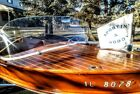 1955 WOLVERINE WAGEMAKER CUSTOM MAHOGANY BOAT RUNABOUT.  Pick up or transport