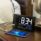 USB CHARGING STATION Desktop 5.89 in x 3.51 in Dual Dual Alarms Nap Timer NEW